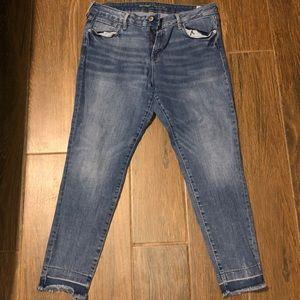 "Fray-bottom Old Navy ""rockstar"" skinny jeans"